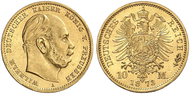 DE 10 Mark 1873 A