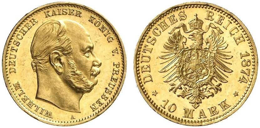 DE 10 Mark 1874 A