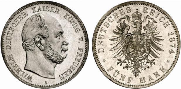 DE 5 Mark 1874 A