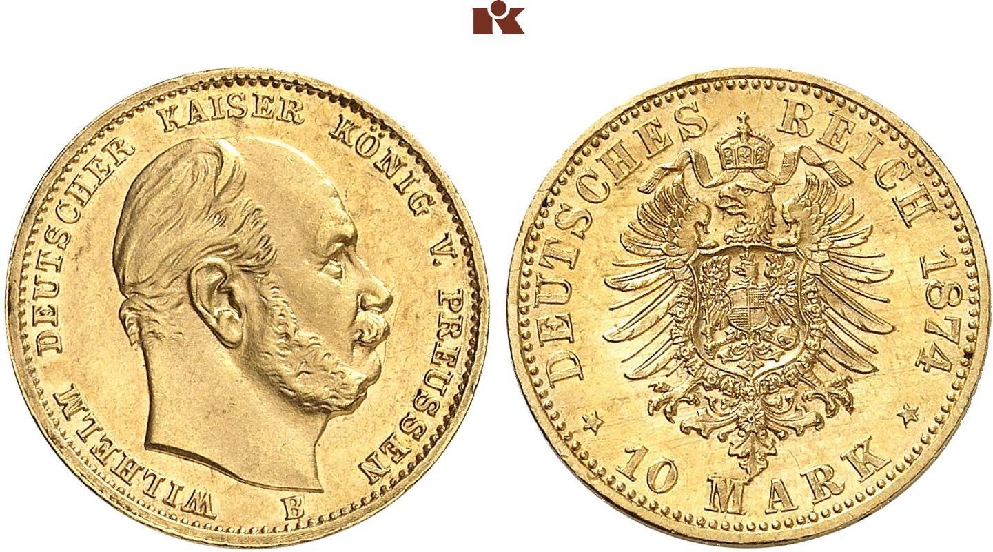 DE 10 Mark 1874 B