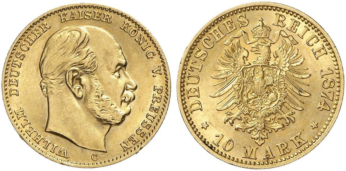 DE 10 Mark 1874 C