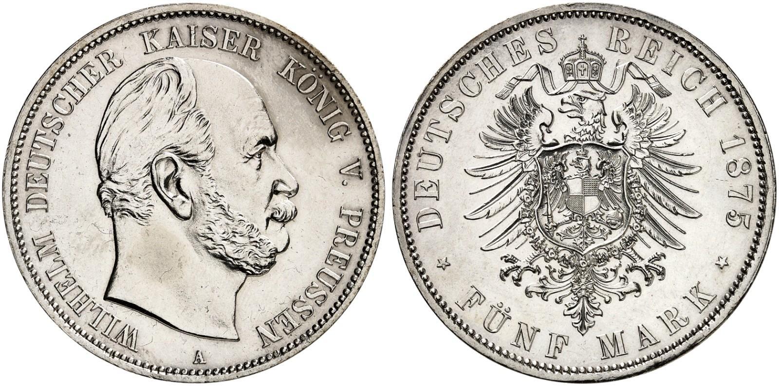 DE 5 Mark 1875 A