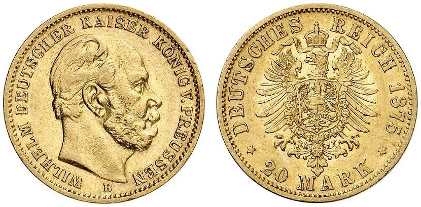 DE 20 Mark 1875 B