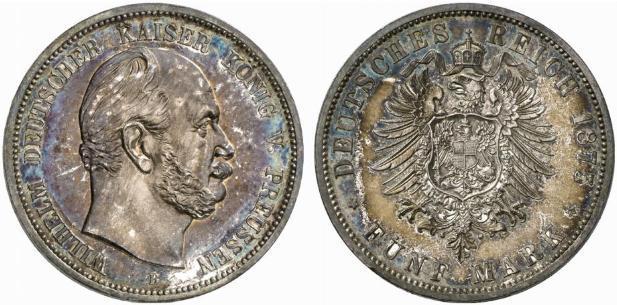 DE 5 Mark 1875 B