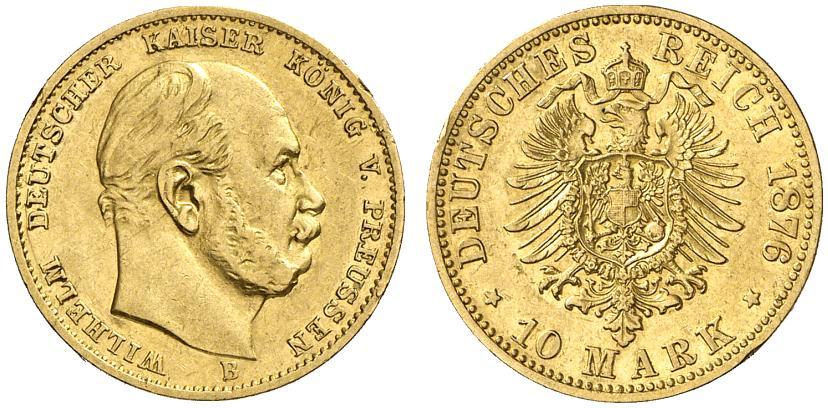 DE 10 Mark 1876 B