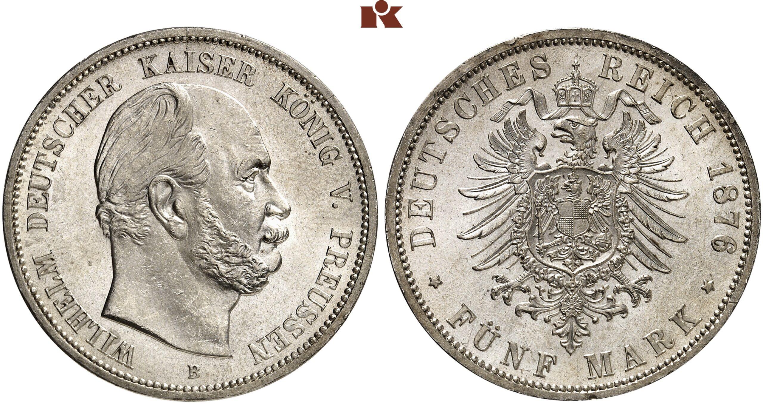 DE 5 Mark 1876 B