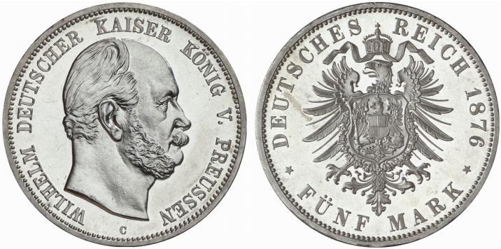 DE 5 Mark 1876 C