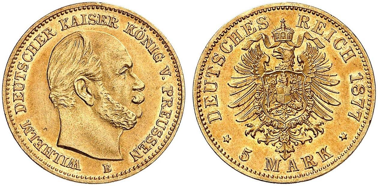 DE 5 Mark 1877 B