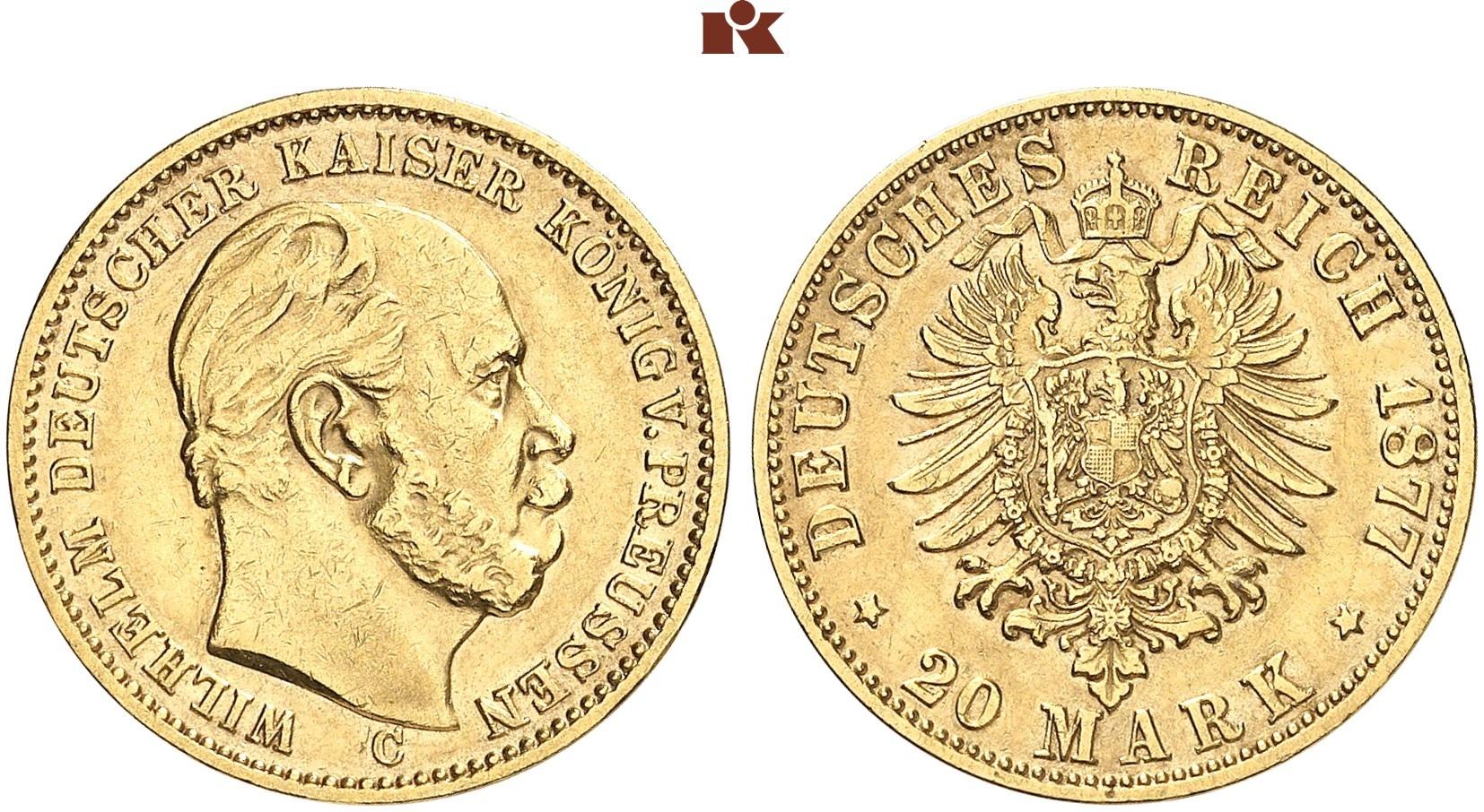 DE 20 Mark 1877 C