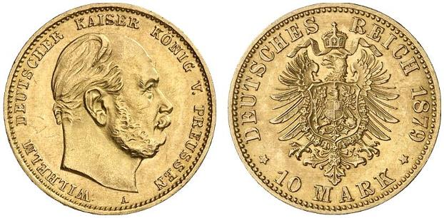 DE 10 Mark 1879 A