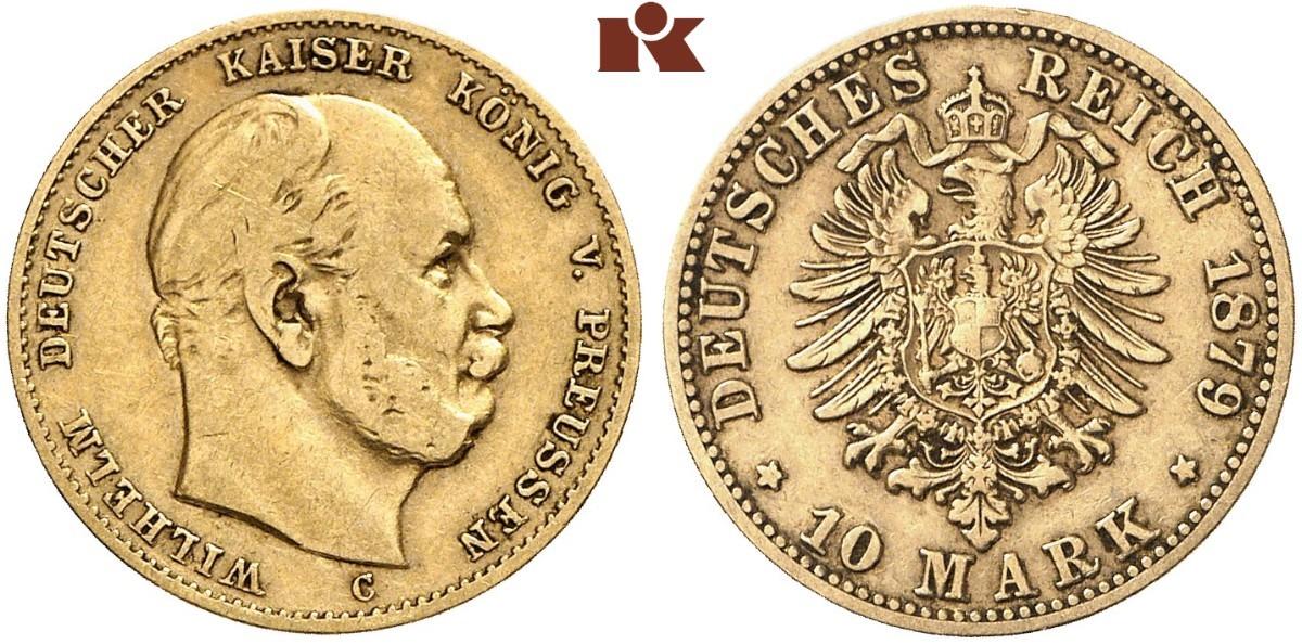 DE 10 Mark 1879 C
