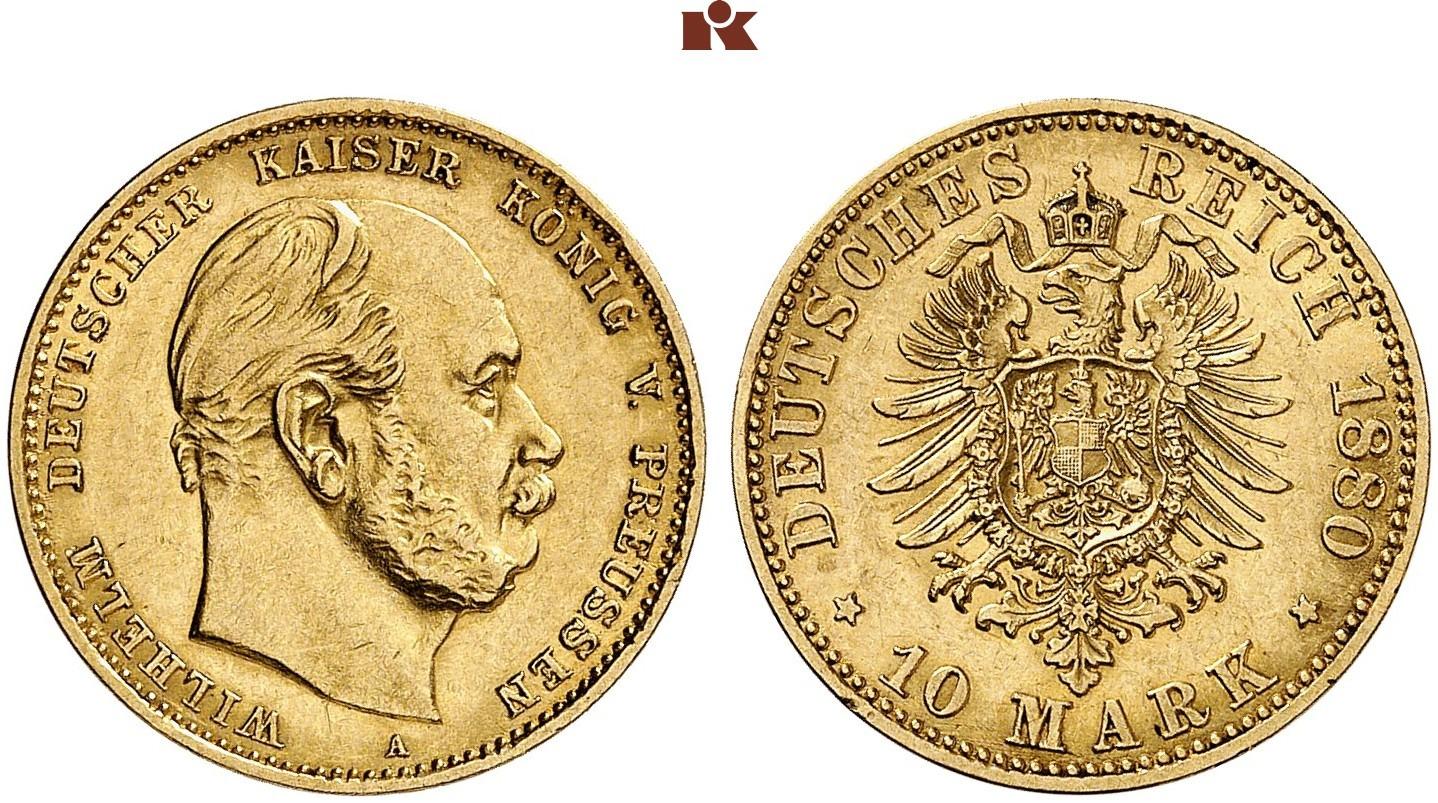 DE 10 Mark 1880 A