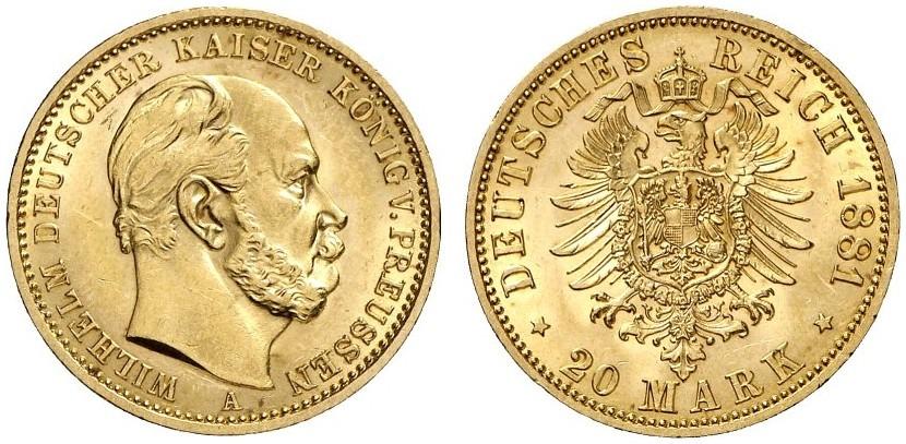 DE 20 Mark 1881 A
