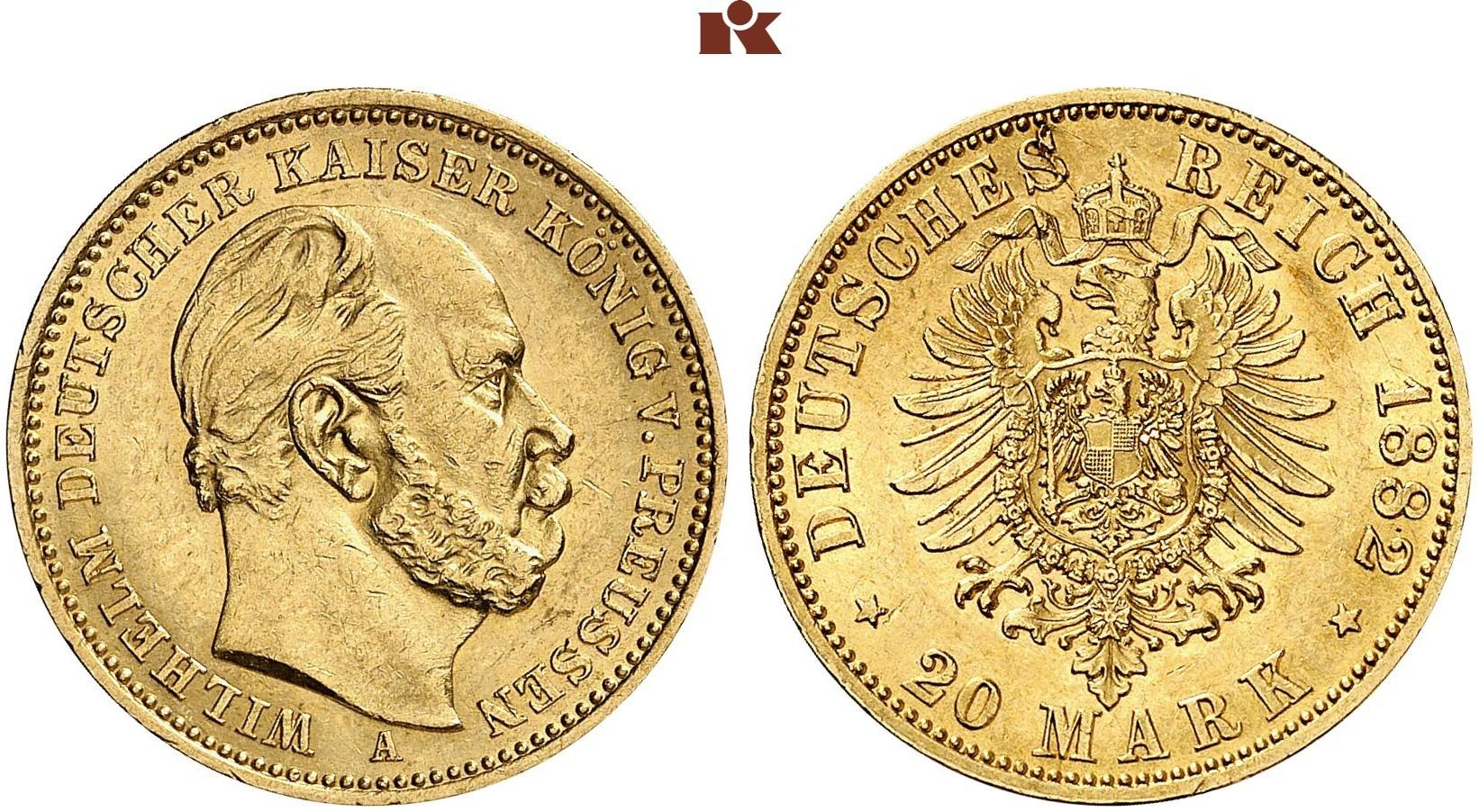 DE 20 Mark 1882 A