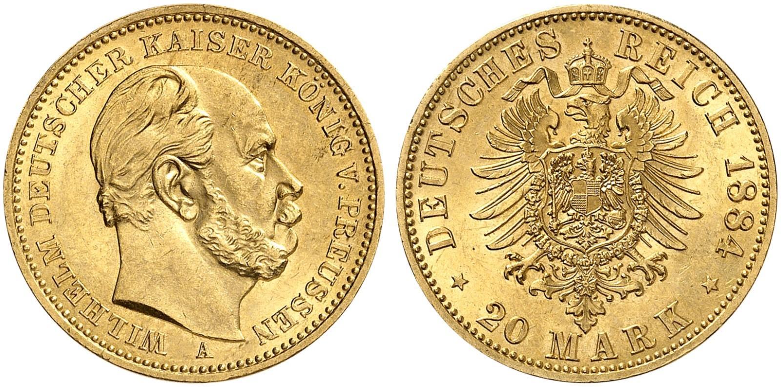 DE 20 Mark 1884 A