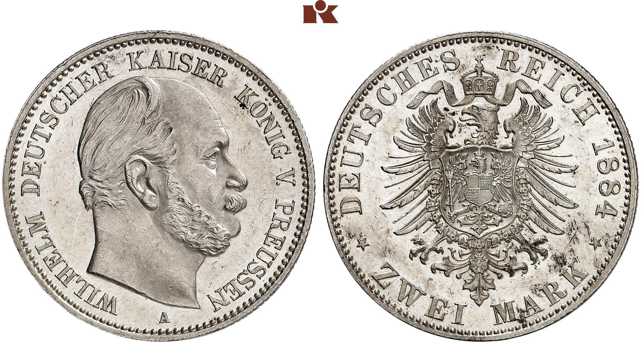 DE 2 Mark 1884 A