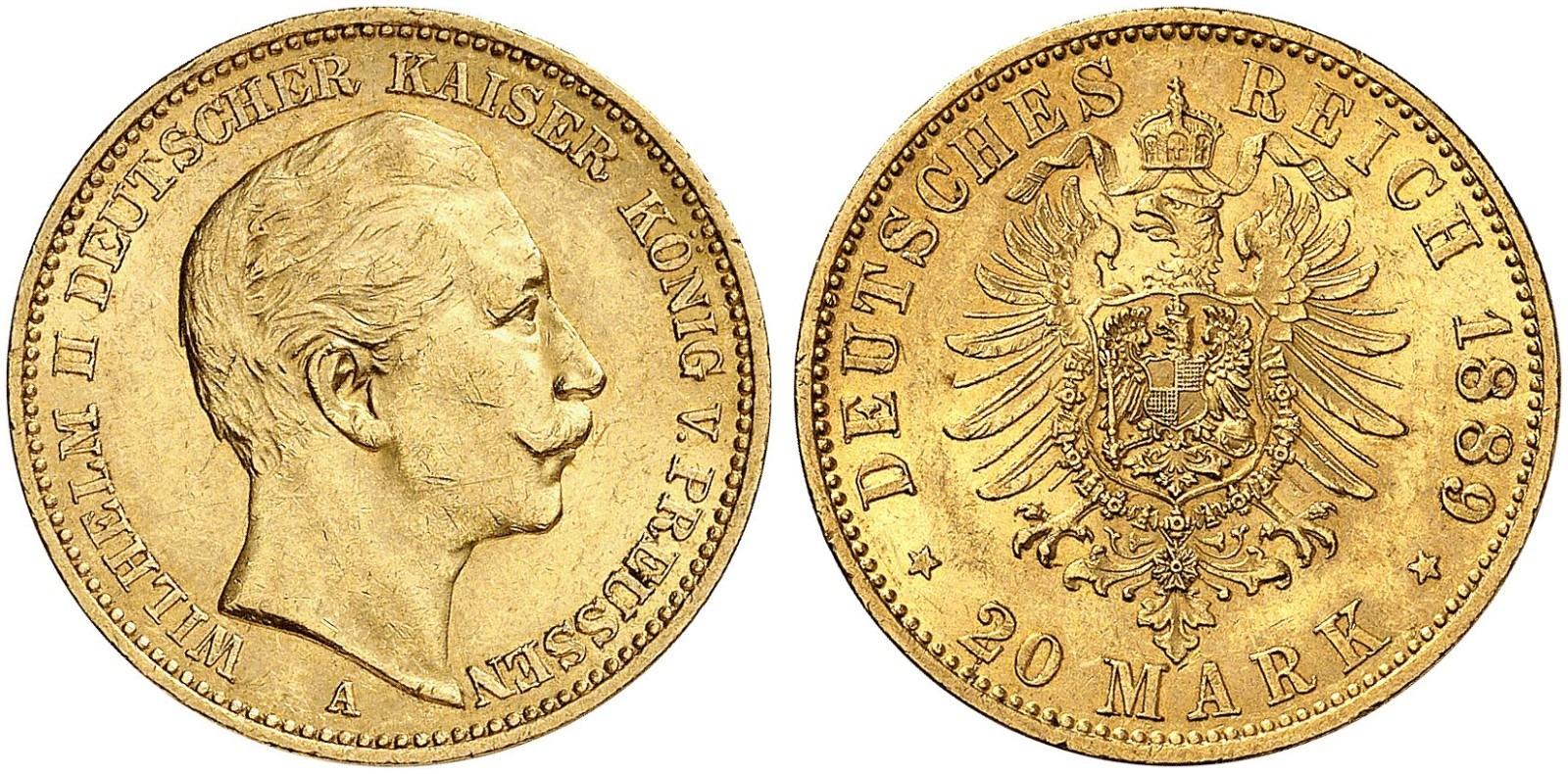 DE 20 Mark 1889 A