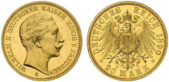 DE 20 Mark 1890 A