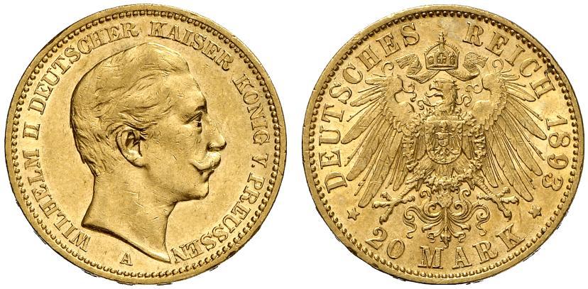 DE 20 Mark 1893 A