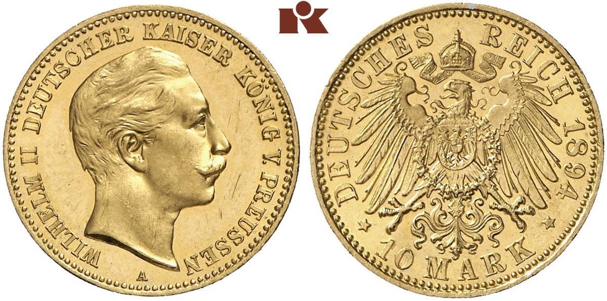 DE 10 Mark 1894 A