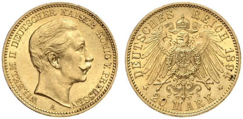 DE 20 Mark 1894 A
