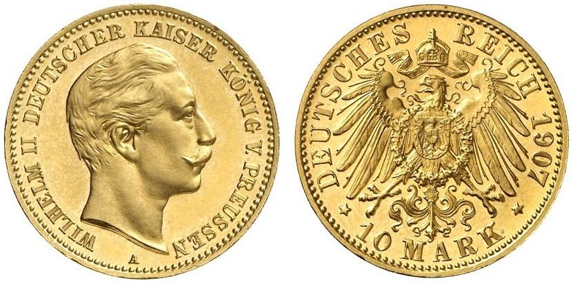 DE 10 Mark 1907 A