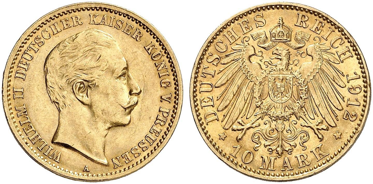 DE 10 Mark 1912 A