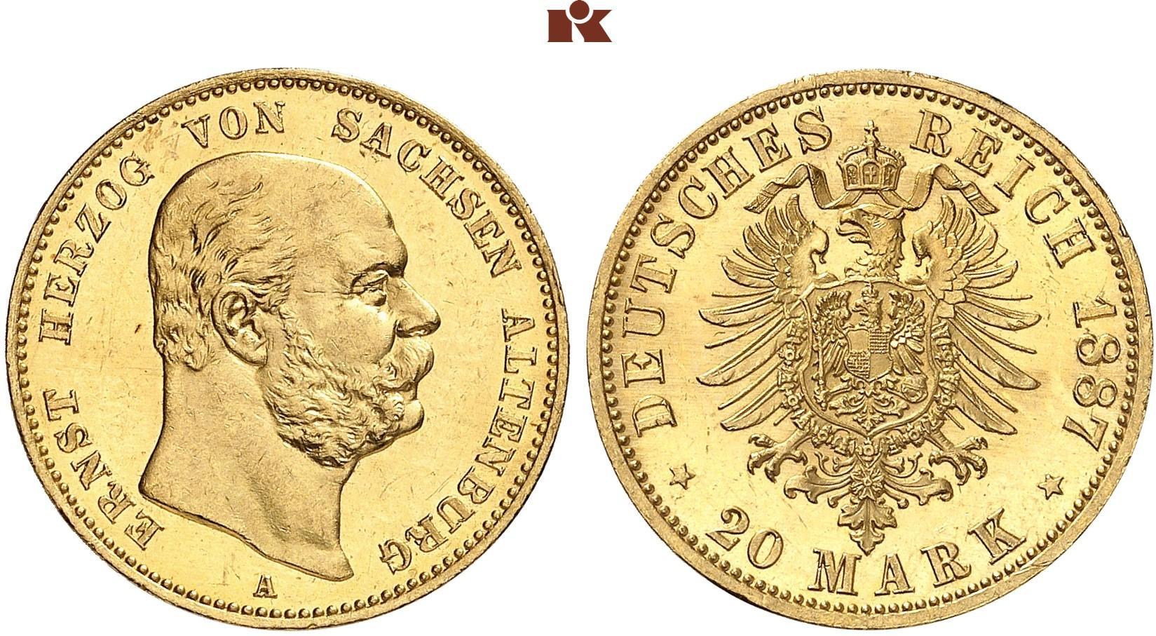 DE 20 Mark 1887 A