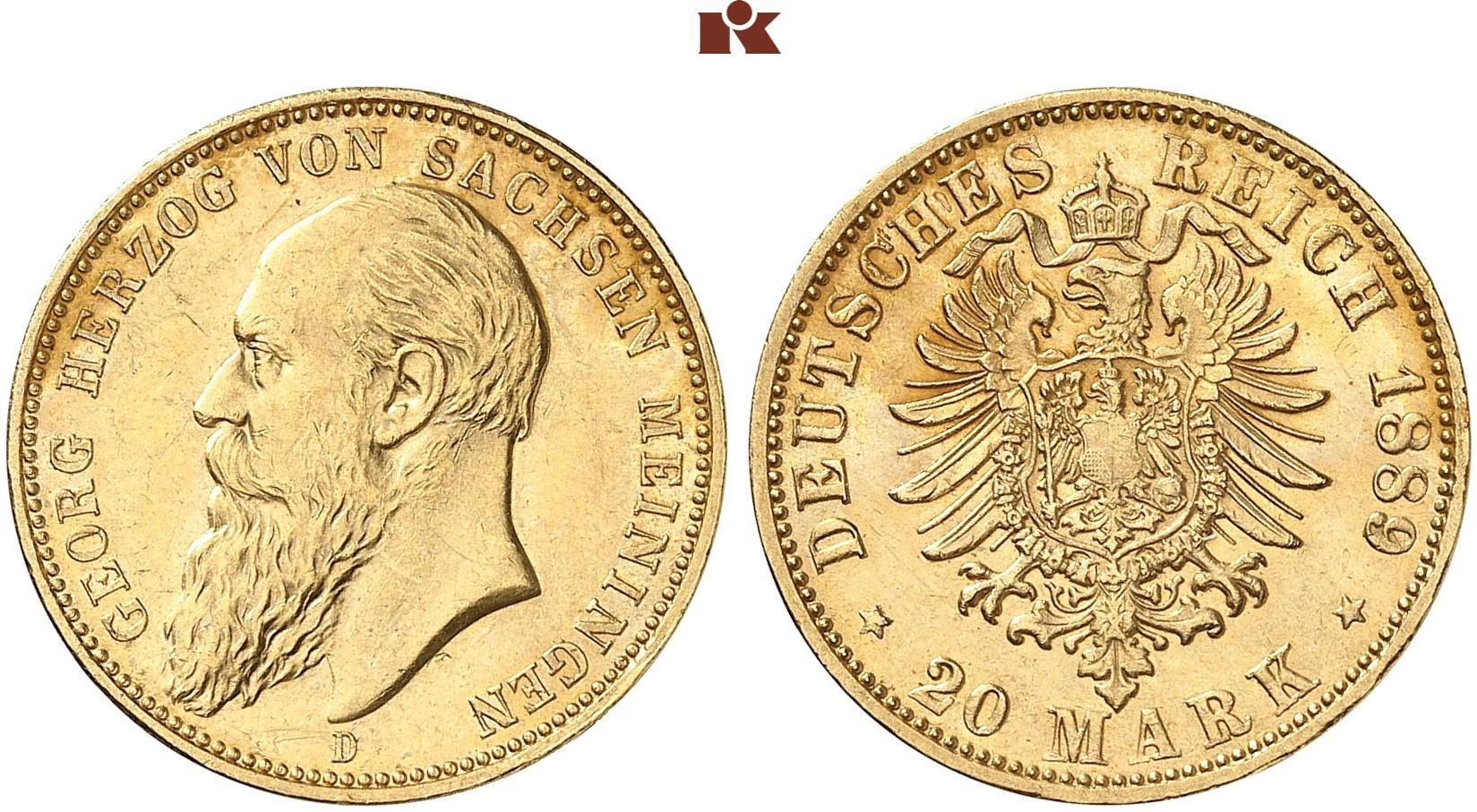 DE 20 Mark 1889 D