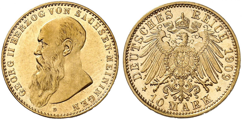 DE 10 Mark 1909 D