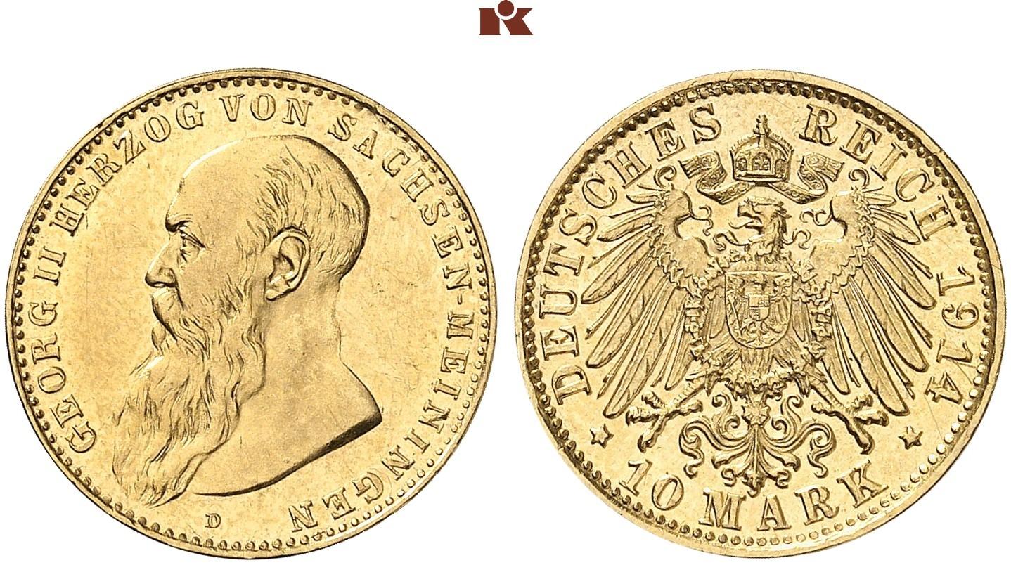 DE 10 Mark 1914 D