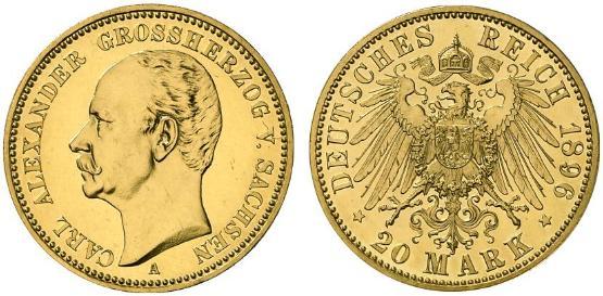 DE 20 Mark 1896 A