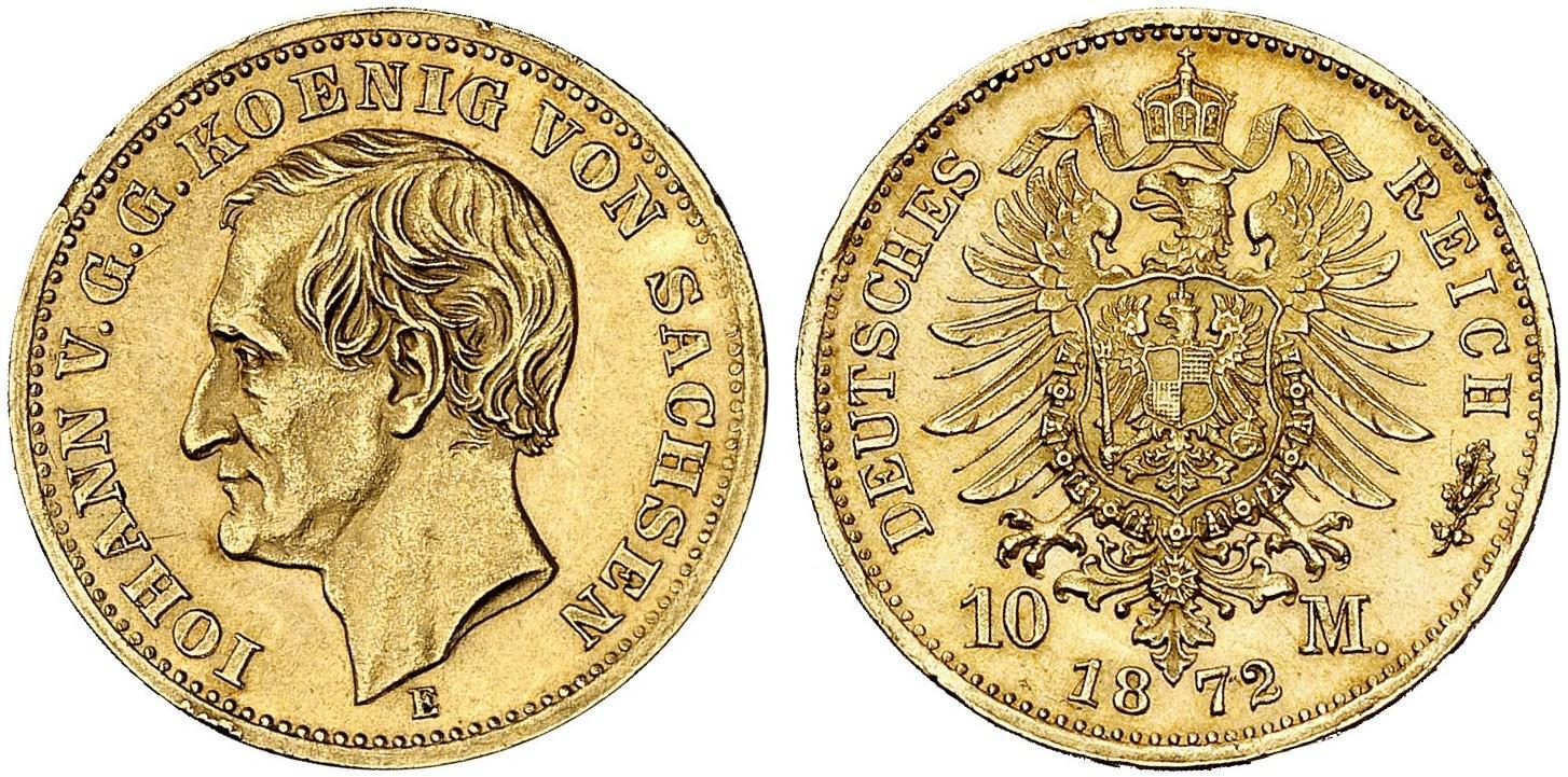DE 10 Mark 1872 E