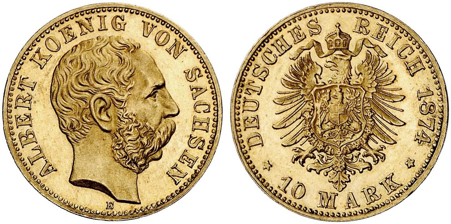 DE 10 Mark 1874 E
