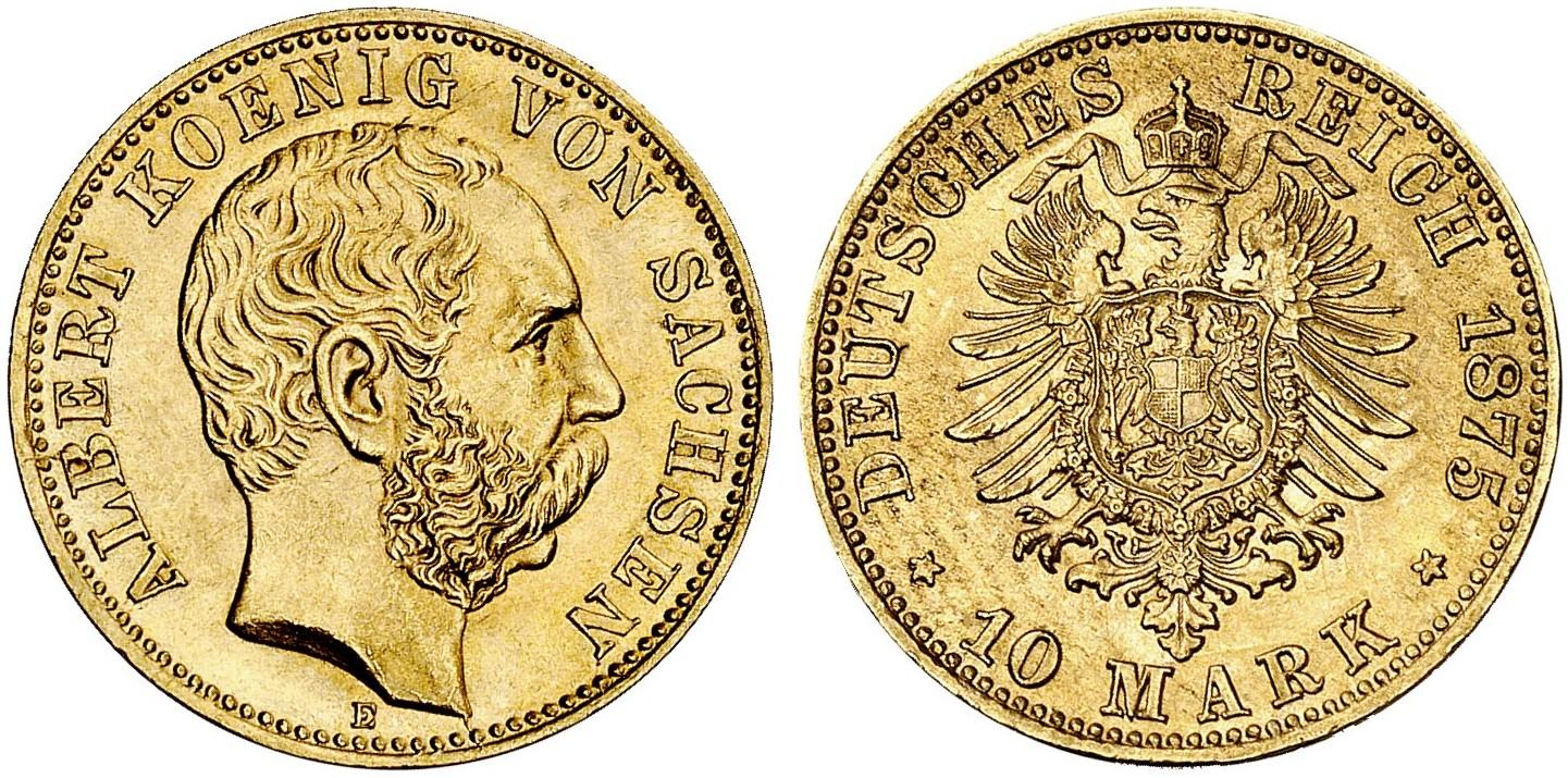 DE 10 Mark 1875 E