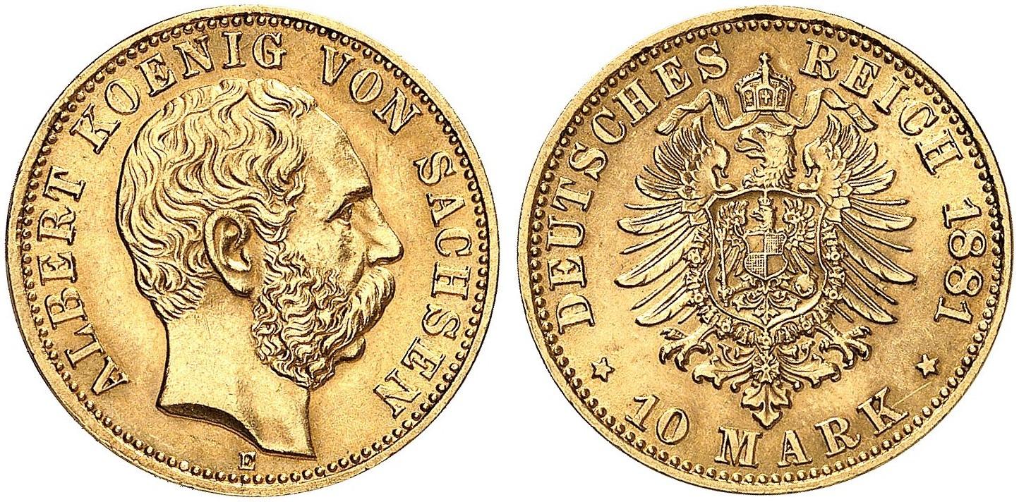 DE 10 Mark 1881 E