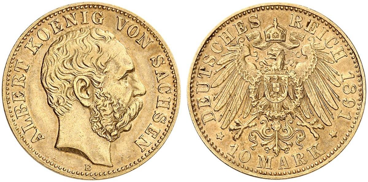 DE 10 Mark 1891 E