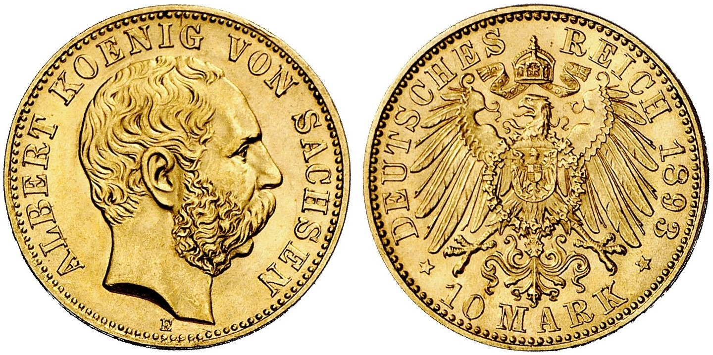 DE 10 Mark 1893 E