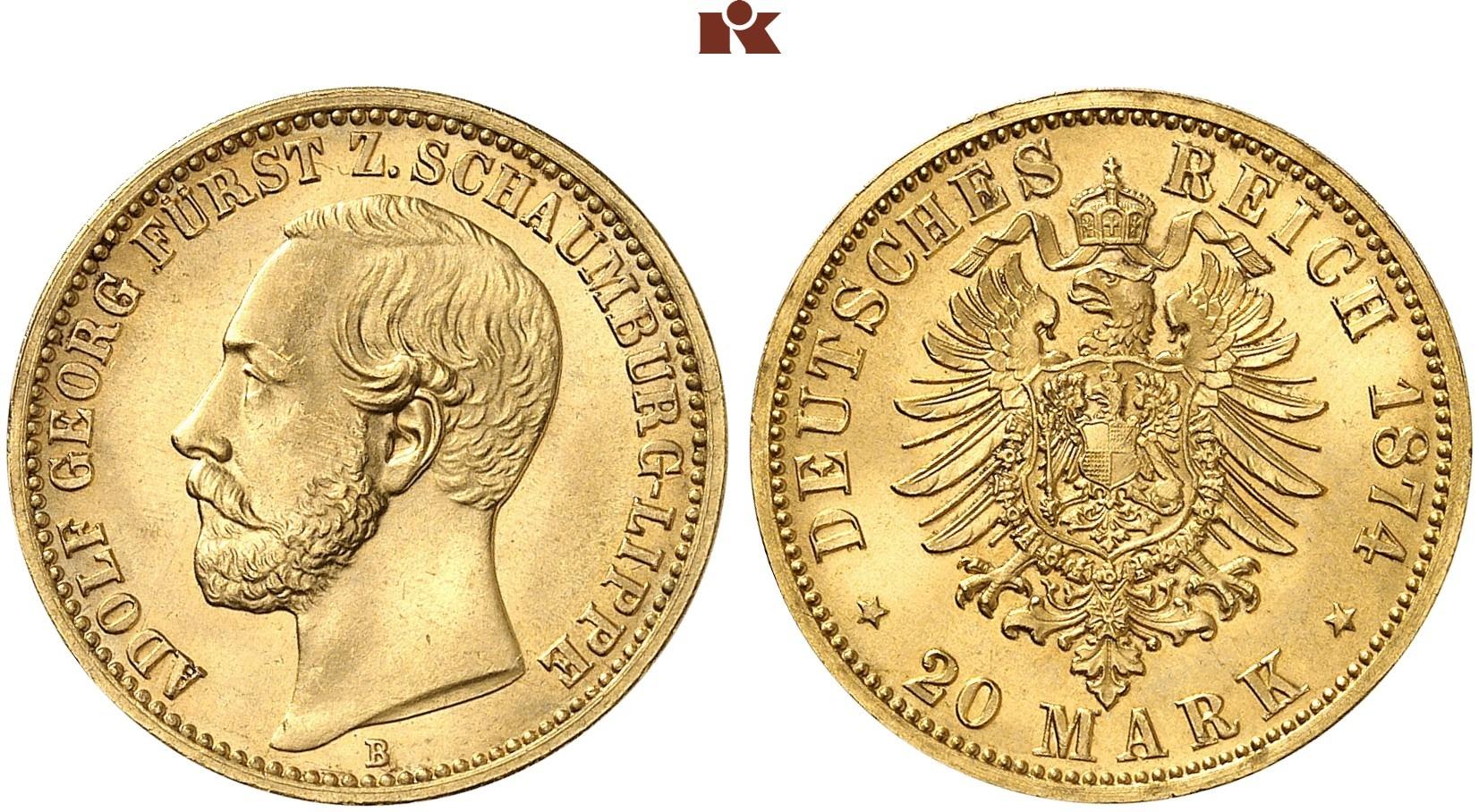 DE 20 Mark 1874 B