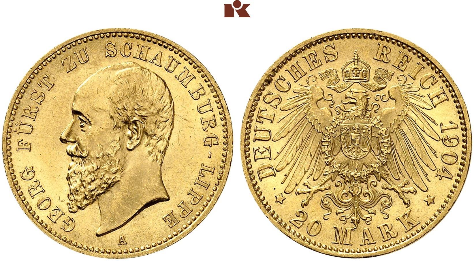 DE 20 Mark 1904 A