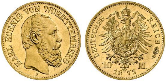 DE 10 Mark 1872 F