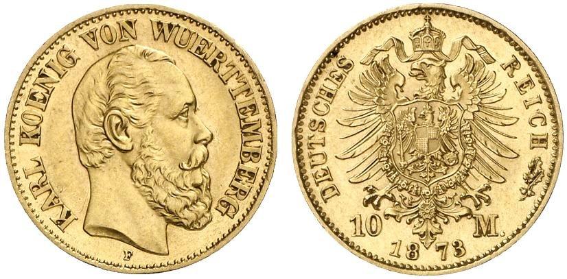 DE 10 Mark 1873 F