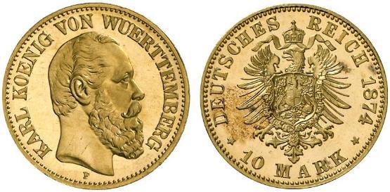 DE 10 Mark 1874 F