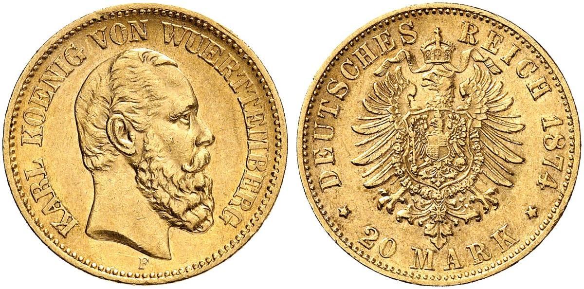 DE 20 Mark 1874 F