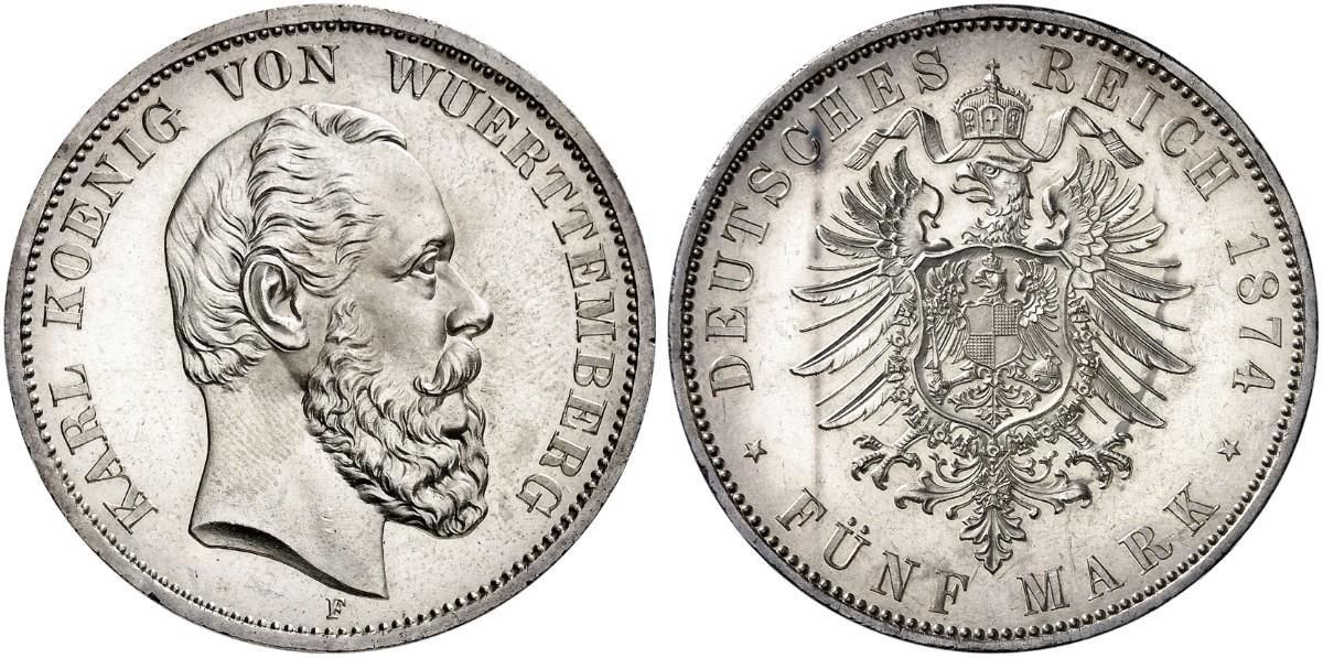 DE 5 Mark 1874 F