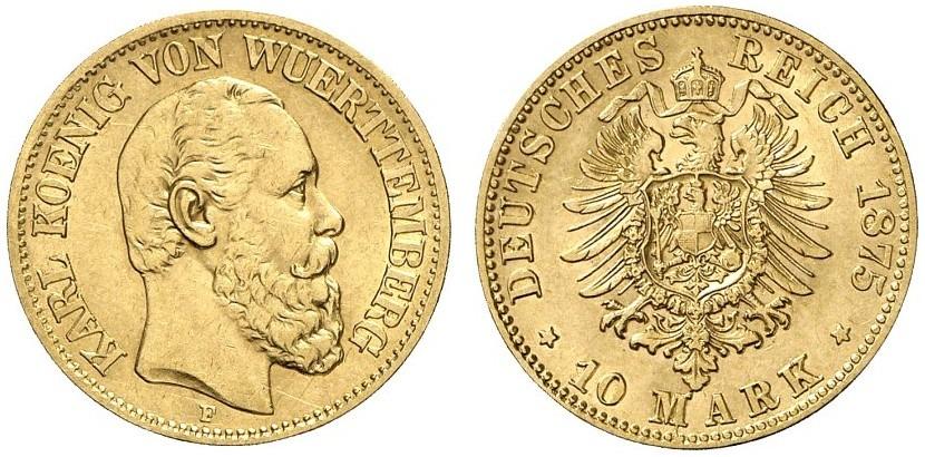 DE 10 Mark 1875 F