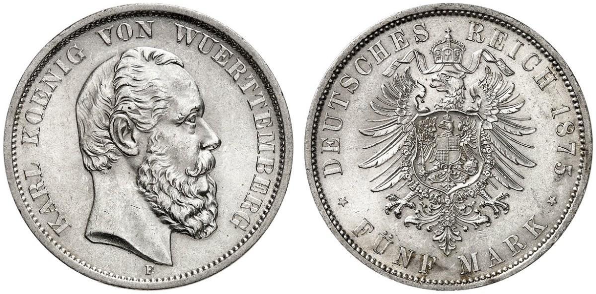 DE 5 Mark 1875 F