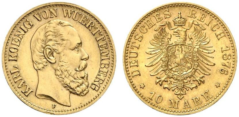 DE 10 Mark 1876 F