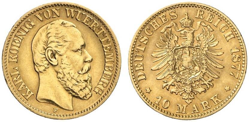 DE 10 Mark 1877 F