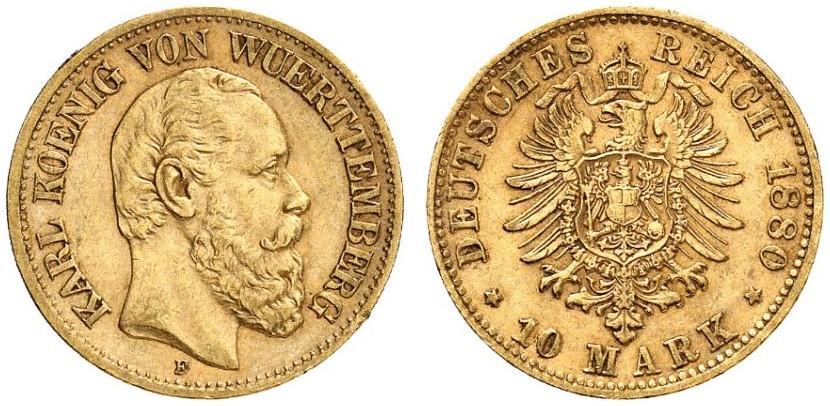 DE 10 Mark 1880 F